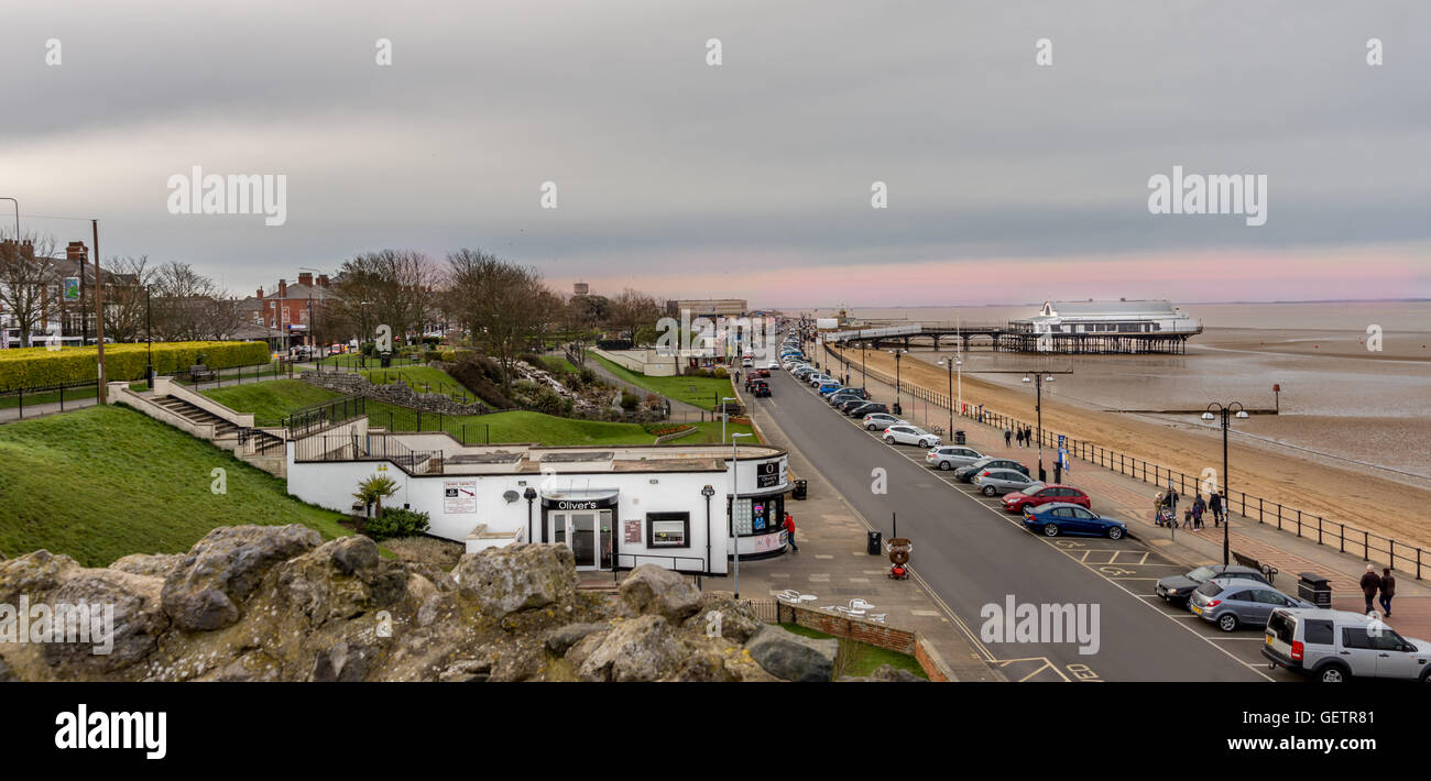Cleethorpes beach and Pier - Stock Image