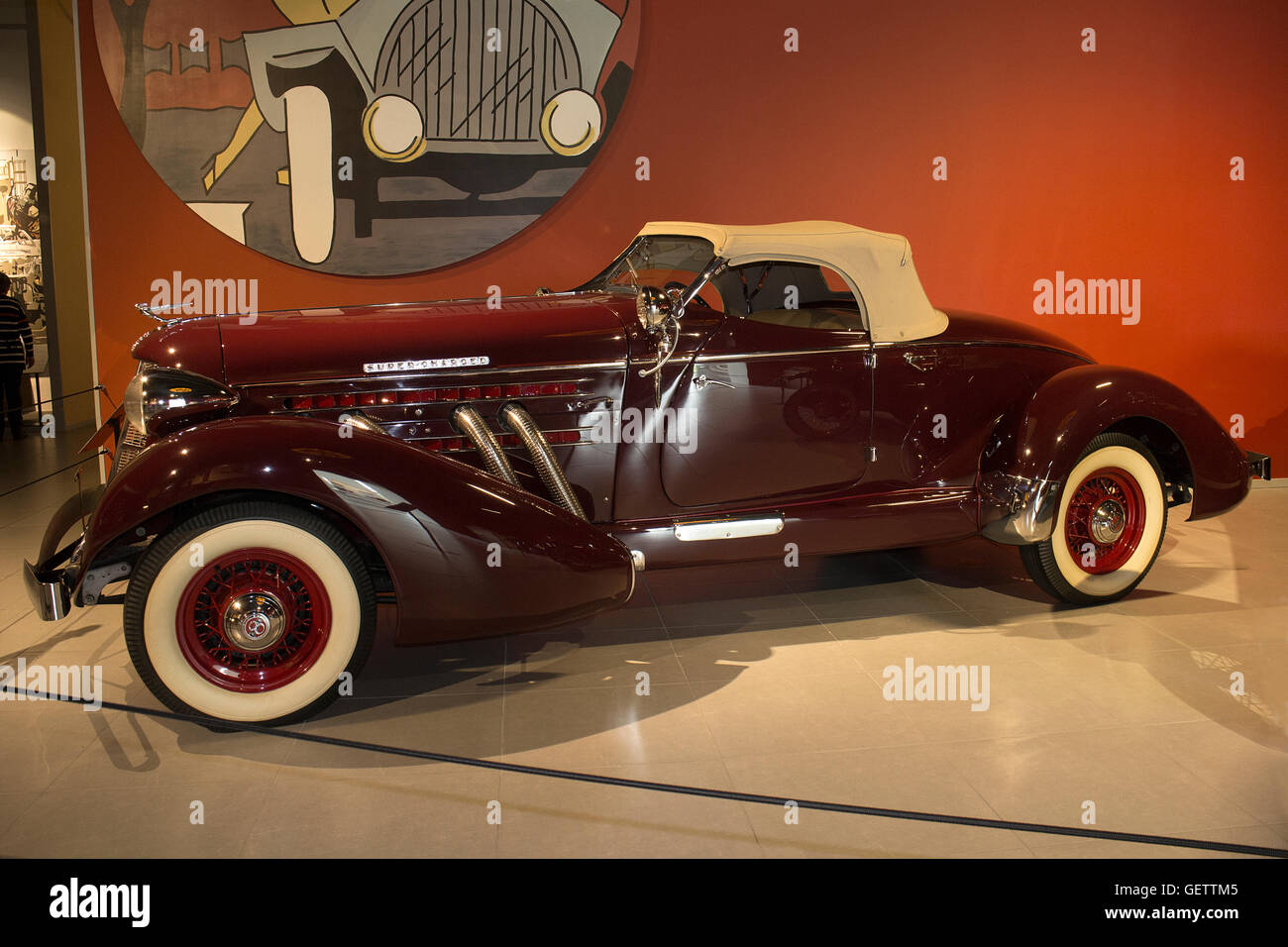 1936 Auburn 852 Speedster at the Louwman Museum, The Hague, Netherlands - Stock Image