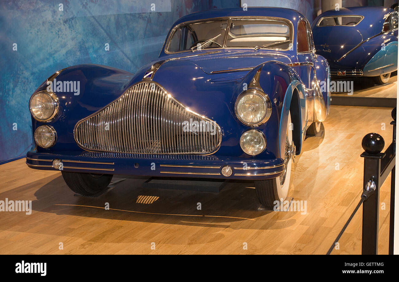 1948 Talbot Lago T26 Grand Sport coupe at the Louwman Museum, The Hague, Netherlands Stock Photo