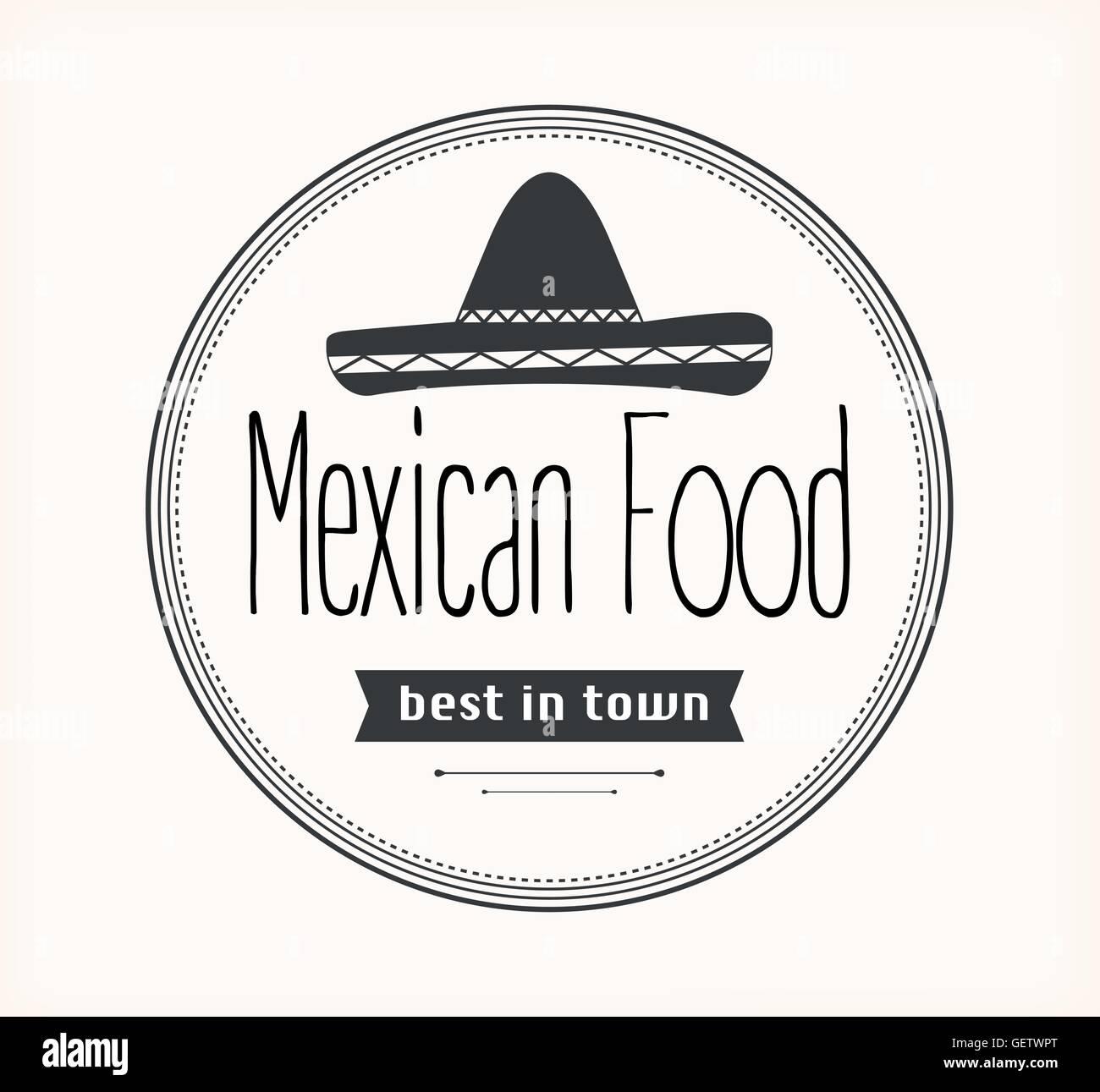 Mexican Food Logo Stock Vector Art Illustration Vector Image