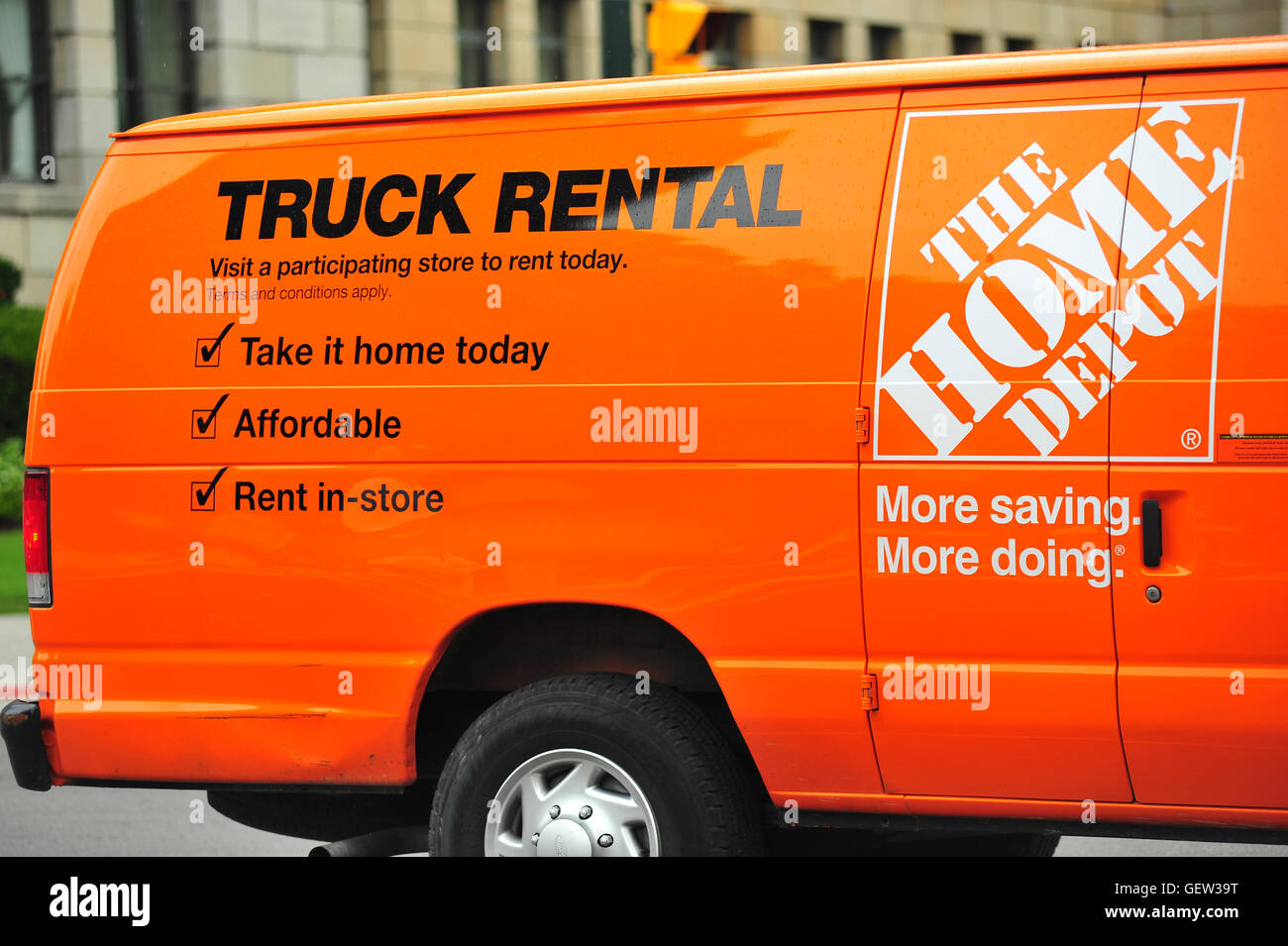 A Home Depot Rental Truck In London Ontario In Canada Stock Photo