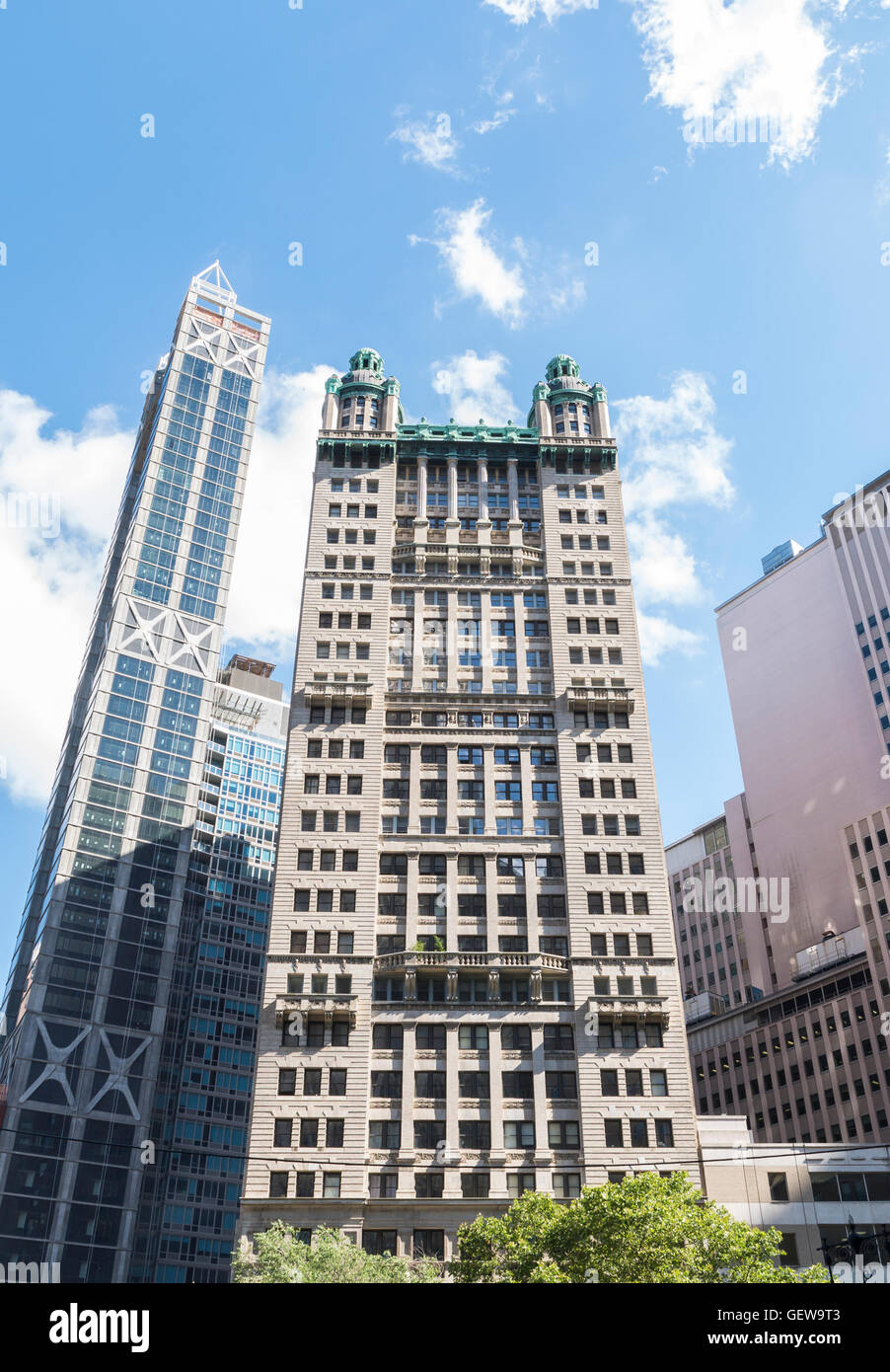 The landmarked Park Row Building in New York. Stock Photo