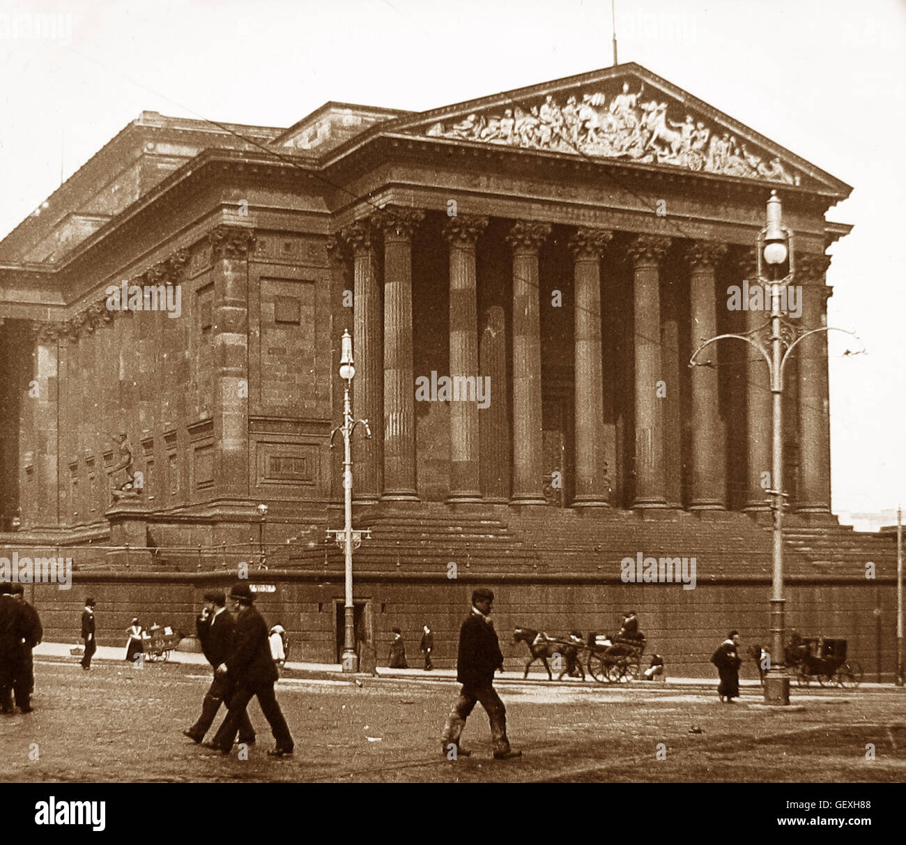 St. George's Hall, Liverpool - early 1900s - Stock Image