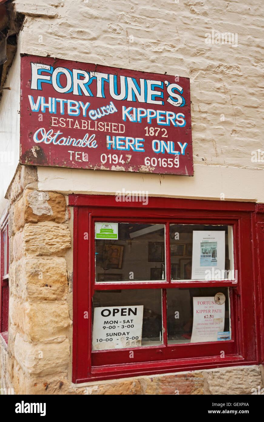 Fortune's kipper shop. - Stock Image