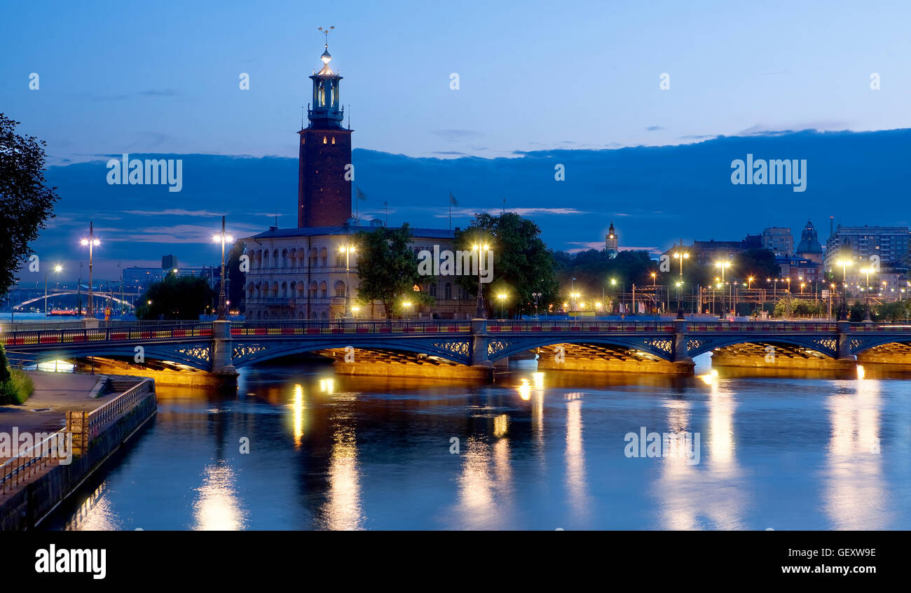 The stadshuset ( town hall) in Stockholm Stock Photo