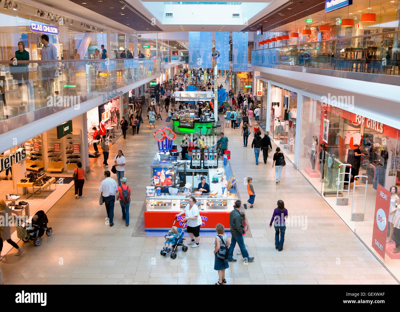 Shopping Mall in Stockholm - Stock Image