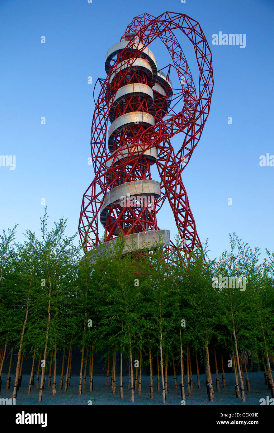 Orbital tower in the Queen Elizabeth Olympic Park in Stratford. - Stock Image