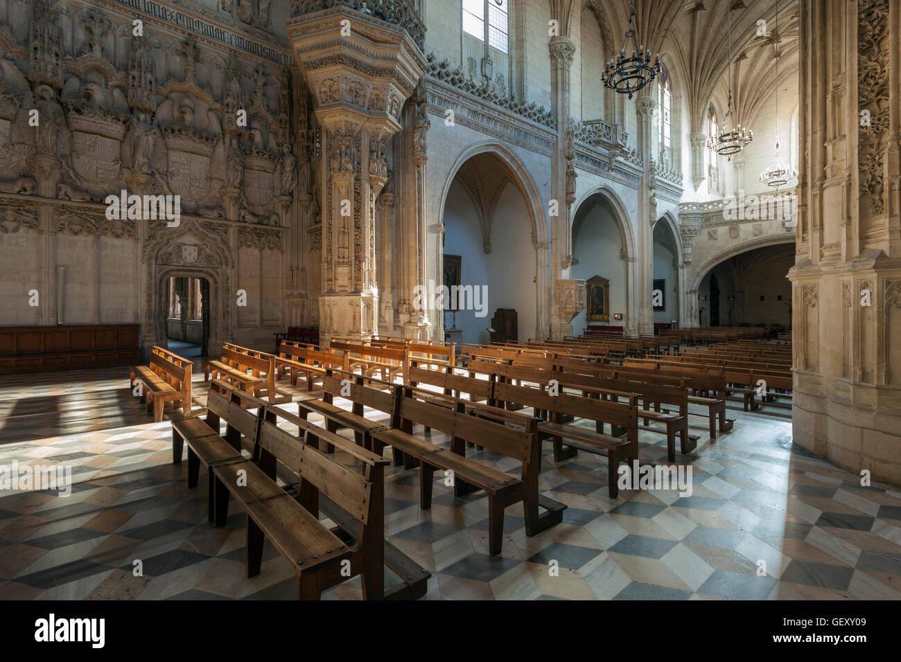 Church interior in monastery of Saint John of the Kings. - Stock Image