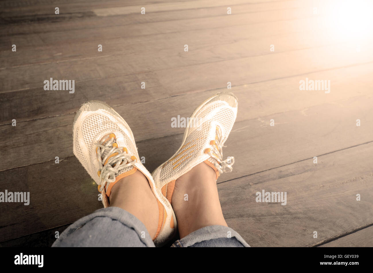 Relax time with one fine day. Stock Photo