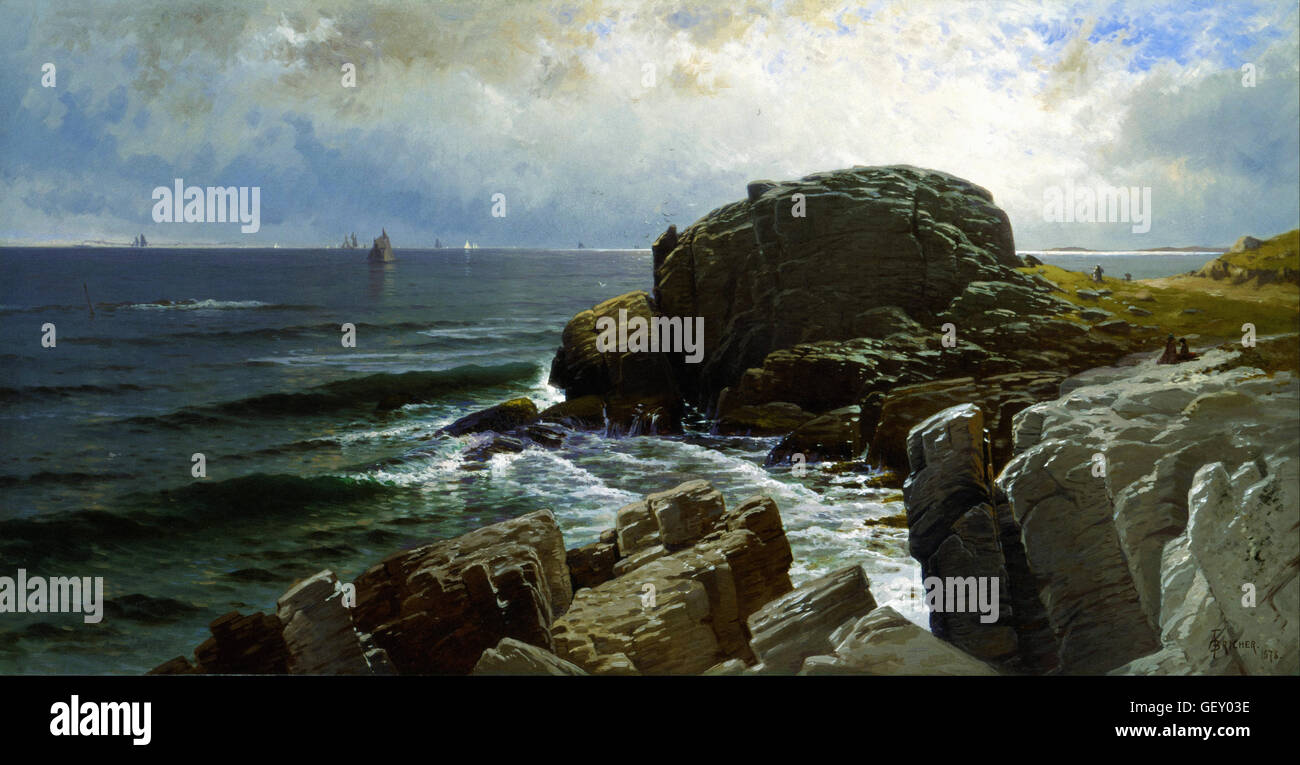 Alfred Thompson Bricher - Castle Rock, Marblehead - Stock Image