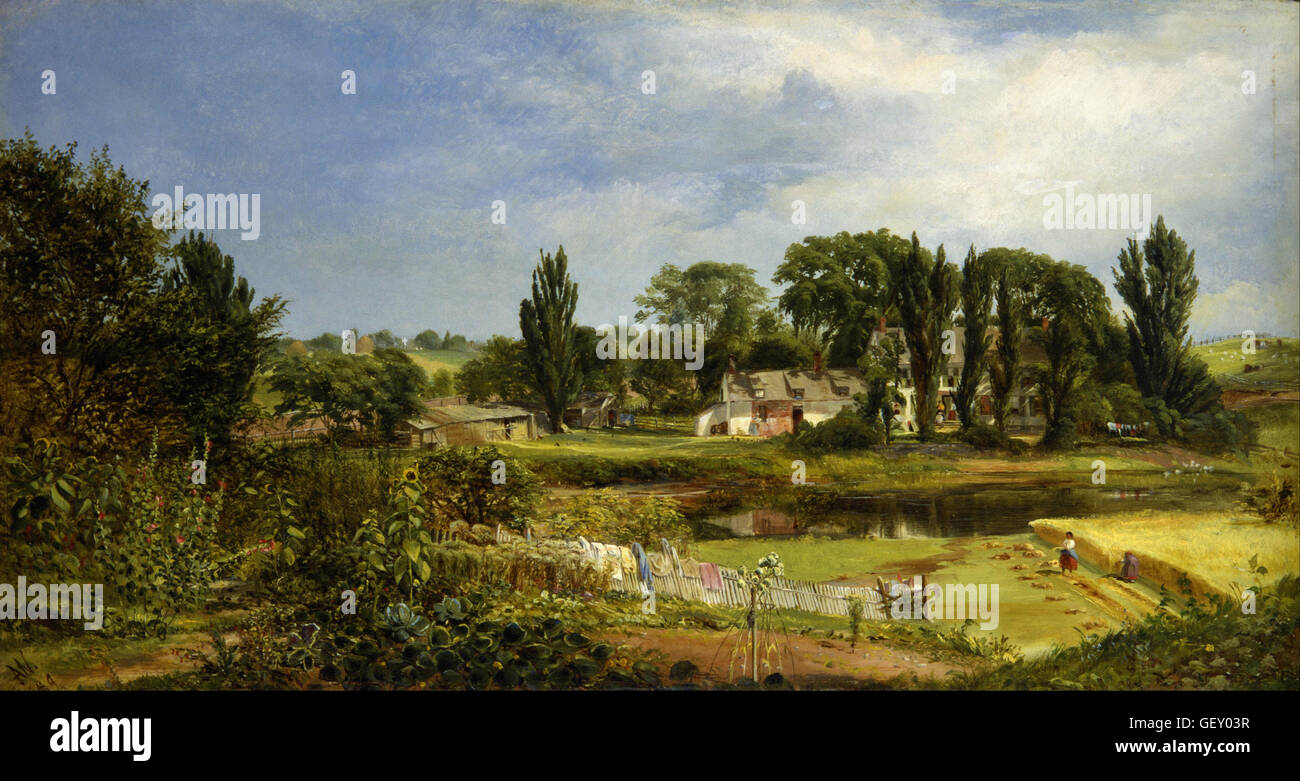 Andrew W. Warren - Long Island Homestead, Study from Nature - Stock Image