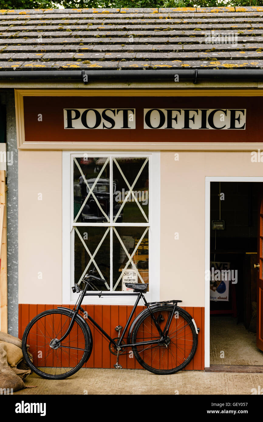 A replica of a war-time era post office at The War And Peace Revival event in Hyte. - Stock Image