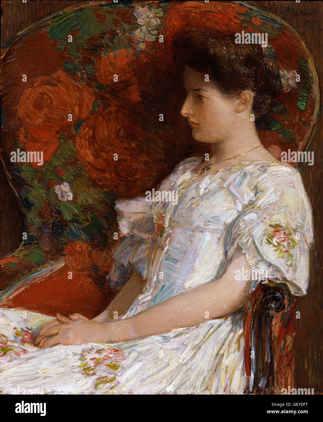 Childe Hassam - The Victorian Chair - Stock Image