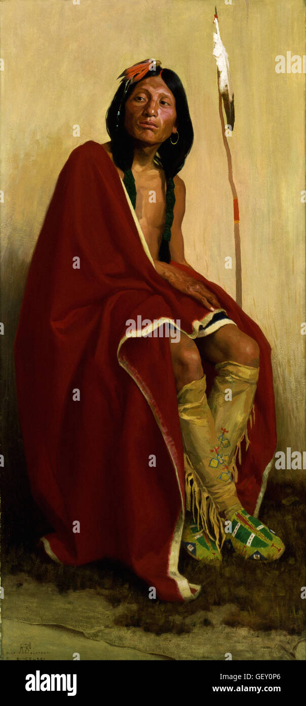 Eanger Irving Couse - Elk-Foot of the Taos Tribe - Stock Image