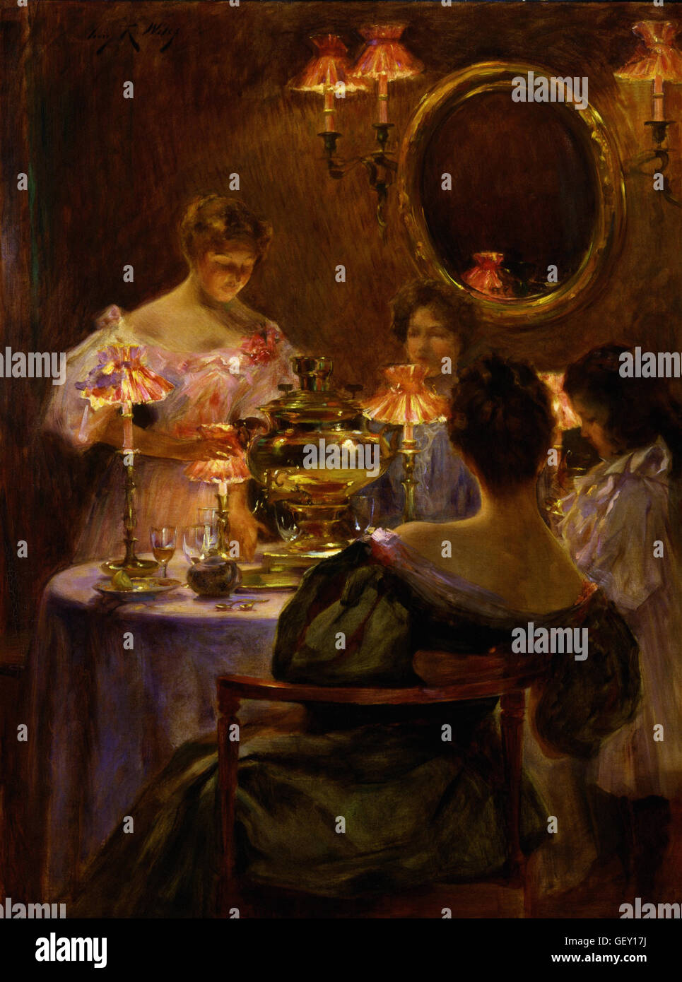 Irving R. Wiles - Russian Tea - Stock Image