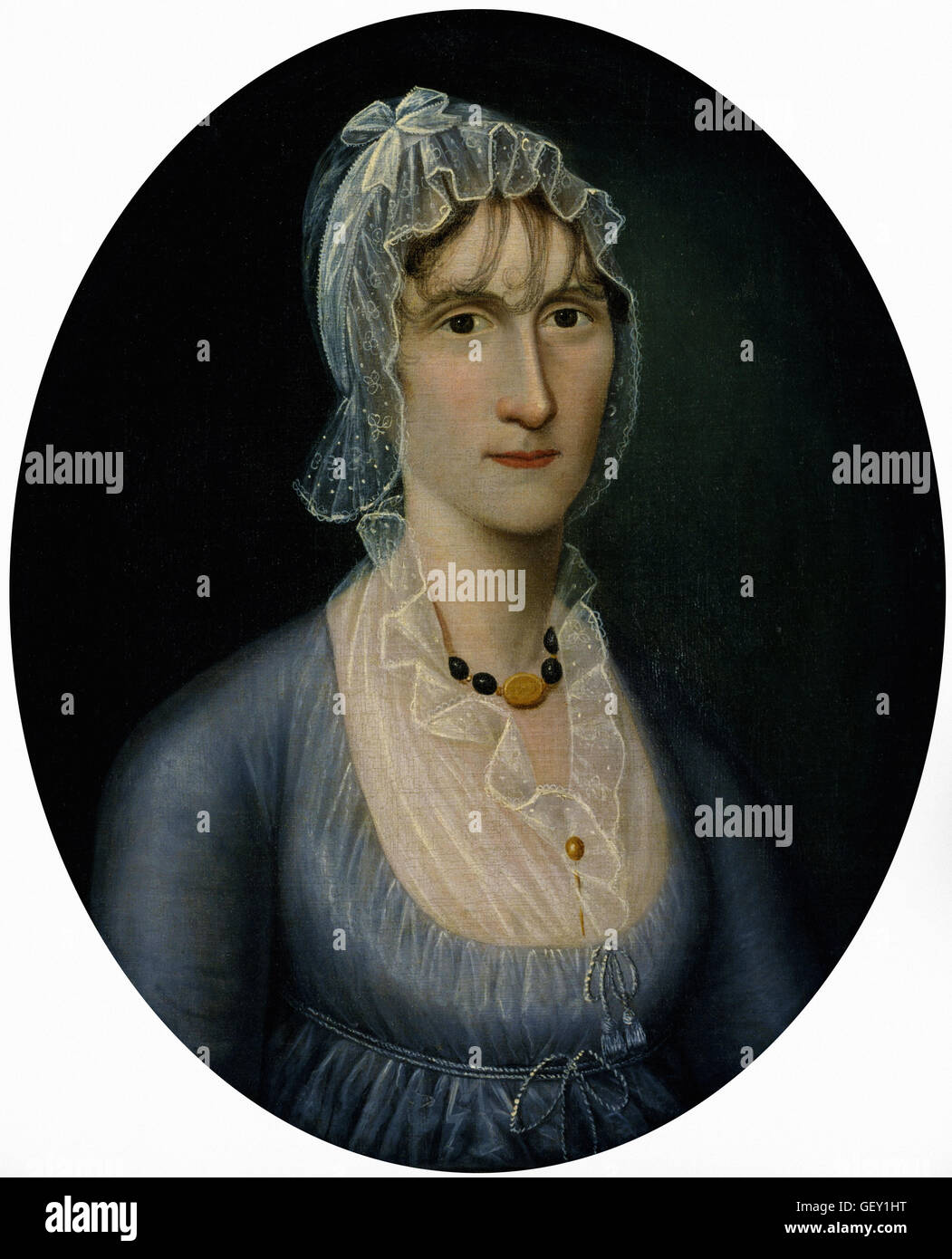 Joshua Johnson - Portrait of Mrs. Barbara Baker Murphy (Wife of Sea Captain) - Stock Image