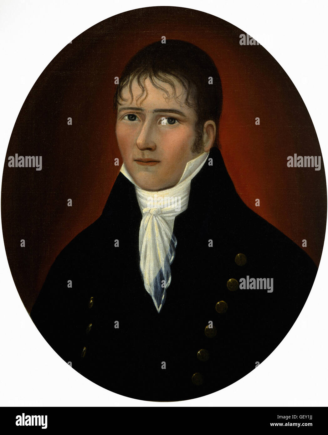 Joshua Johnson - Portrait of Sea Captain John Murphy - Stock Image