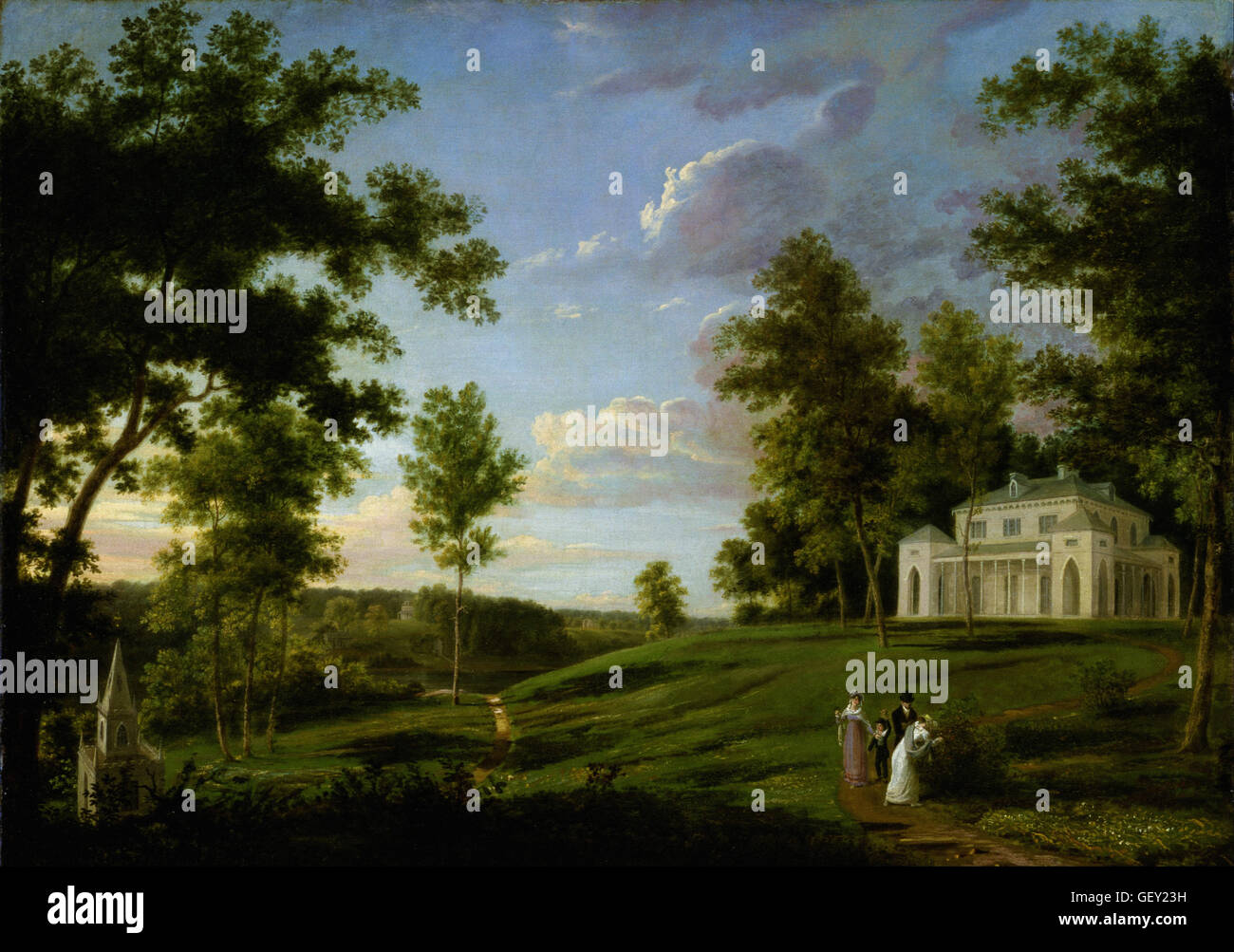 Thomas Birch - Southeast View of Sedgeley Park the Country Seat of James Cowles Fisher, Esq - Stock Image