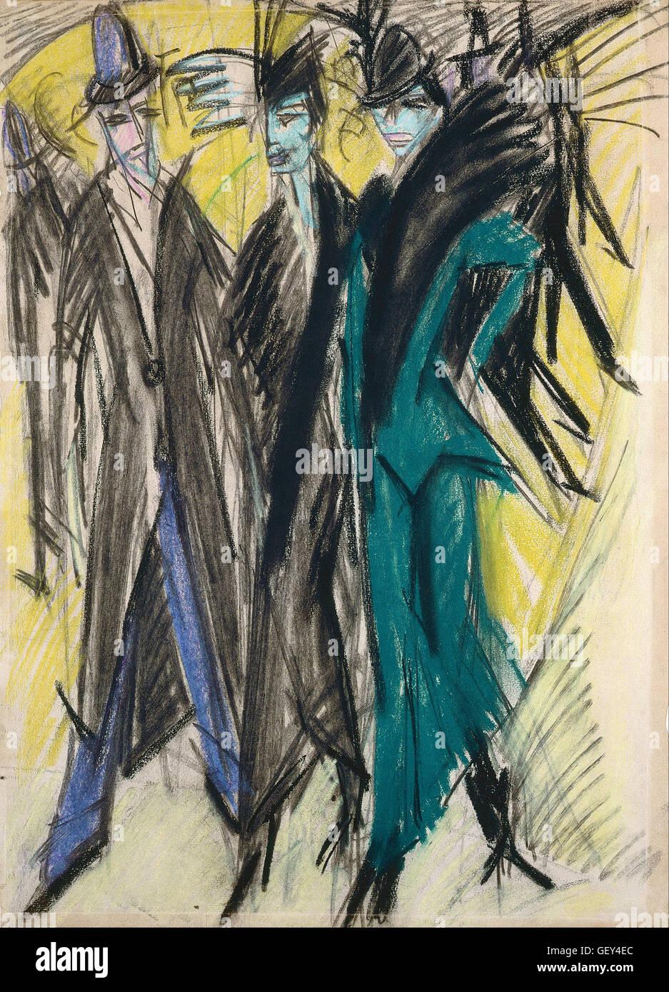 Ernst Ludwig Kirchner - Berlin Street Scene - Stock Image