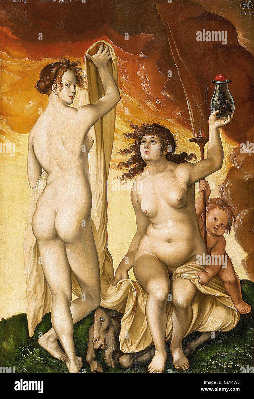 Hans Baldung called Grien - Two Witches - Stock Image