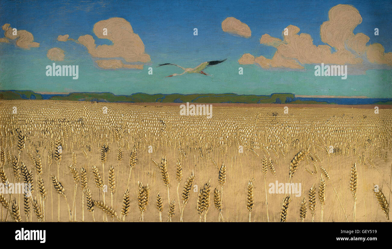 Harald Slott-Møller - Danish Landscape - Stock Image