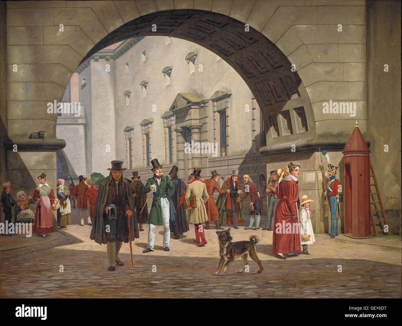 Martinus Rørbye - The Prison of Copenhagen - Stock Image