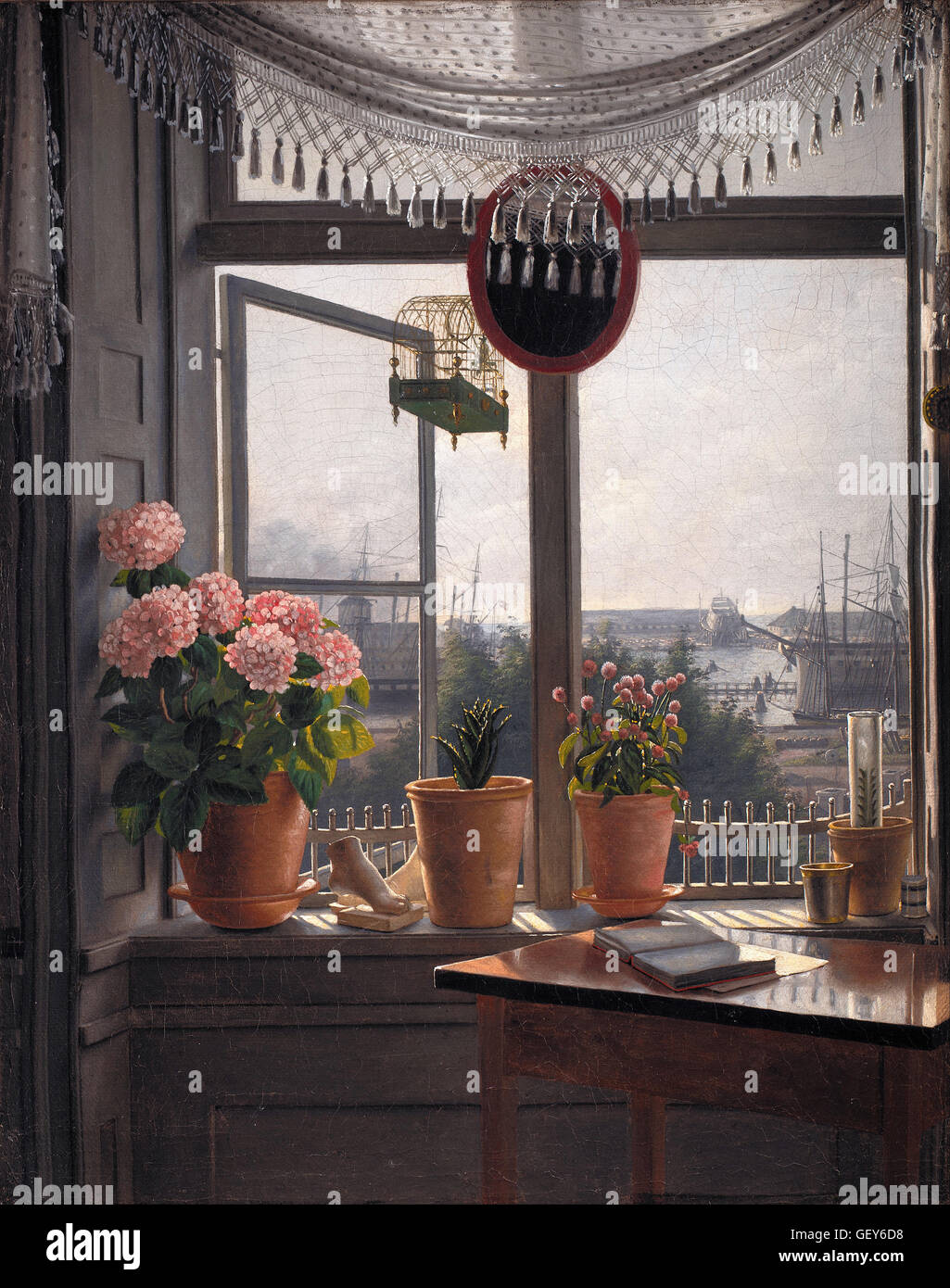 Martinus Rørbye - View from the Artist's Window - Stock Image