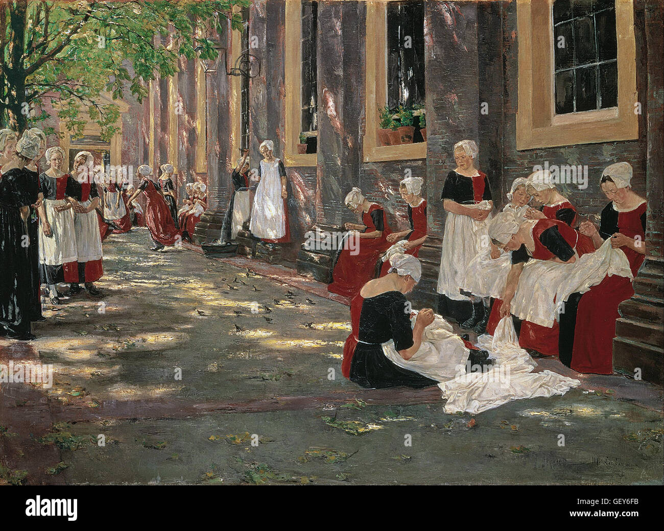 Max Liebermann - Free Period in the Amsterdam Orphanage - Stock Image
