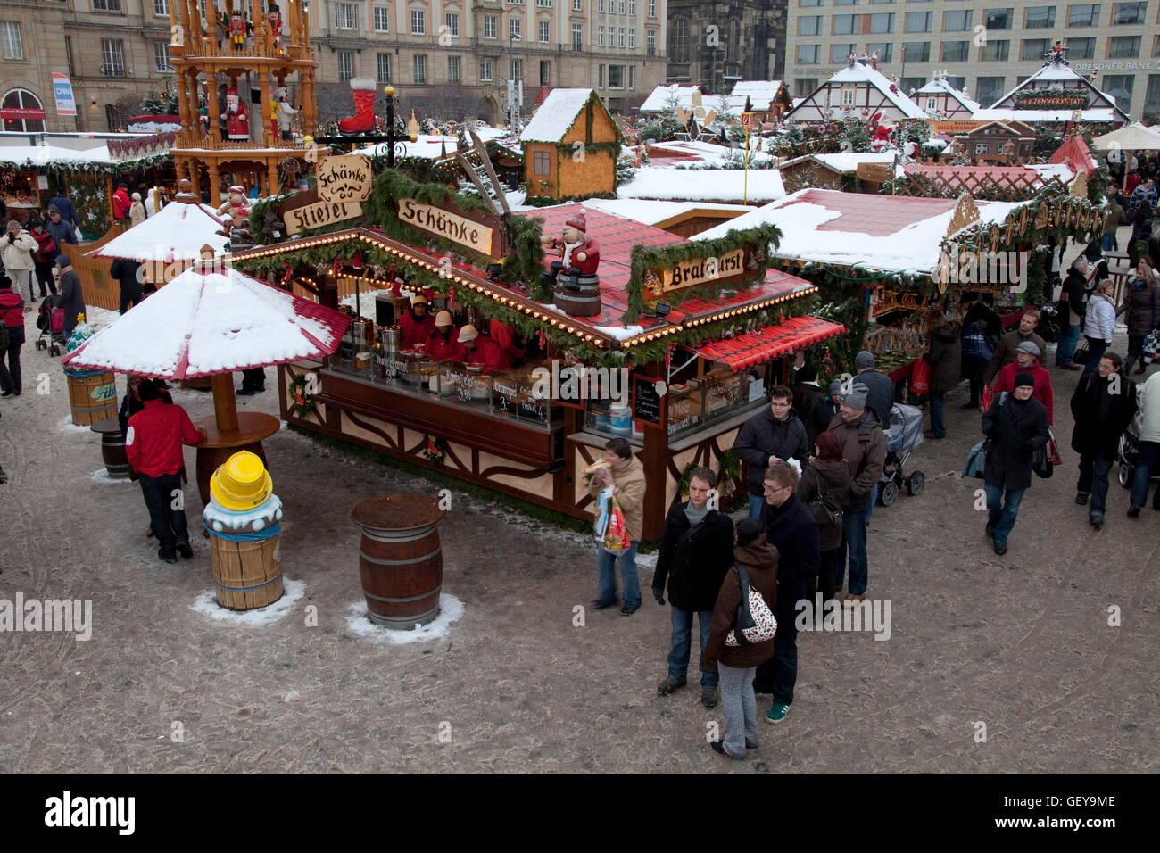 Christmas market, Dresden - Stock Image