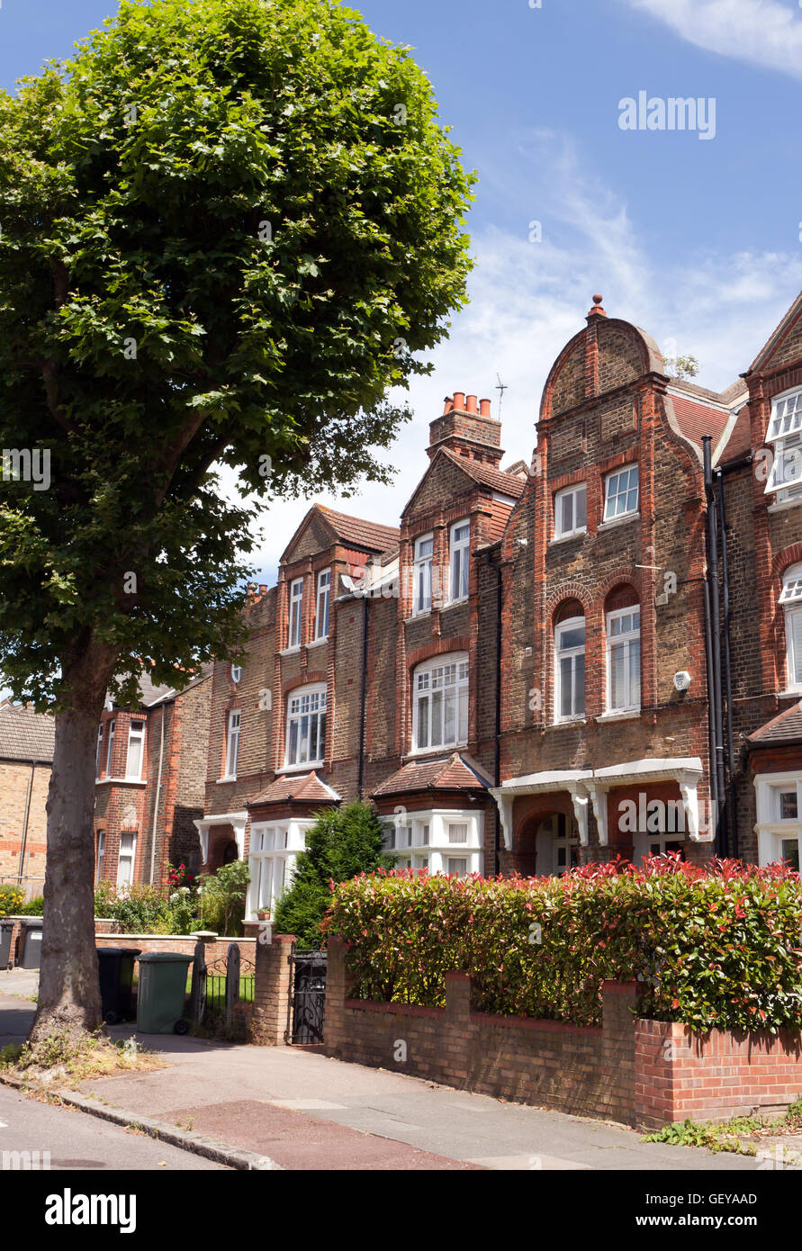 Queen Anne Revival Style Houses On St Margarets Road In The Brockley Conservation Area Lewisham London