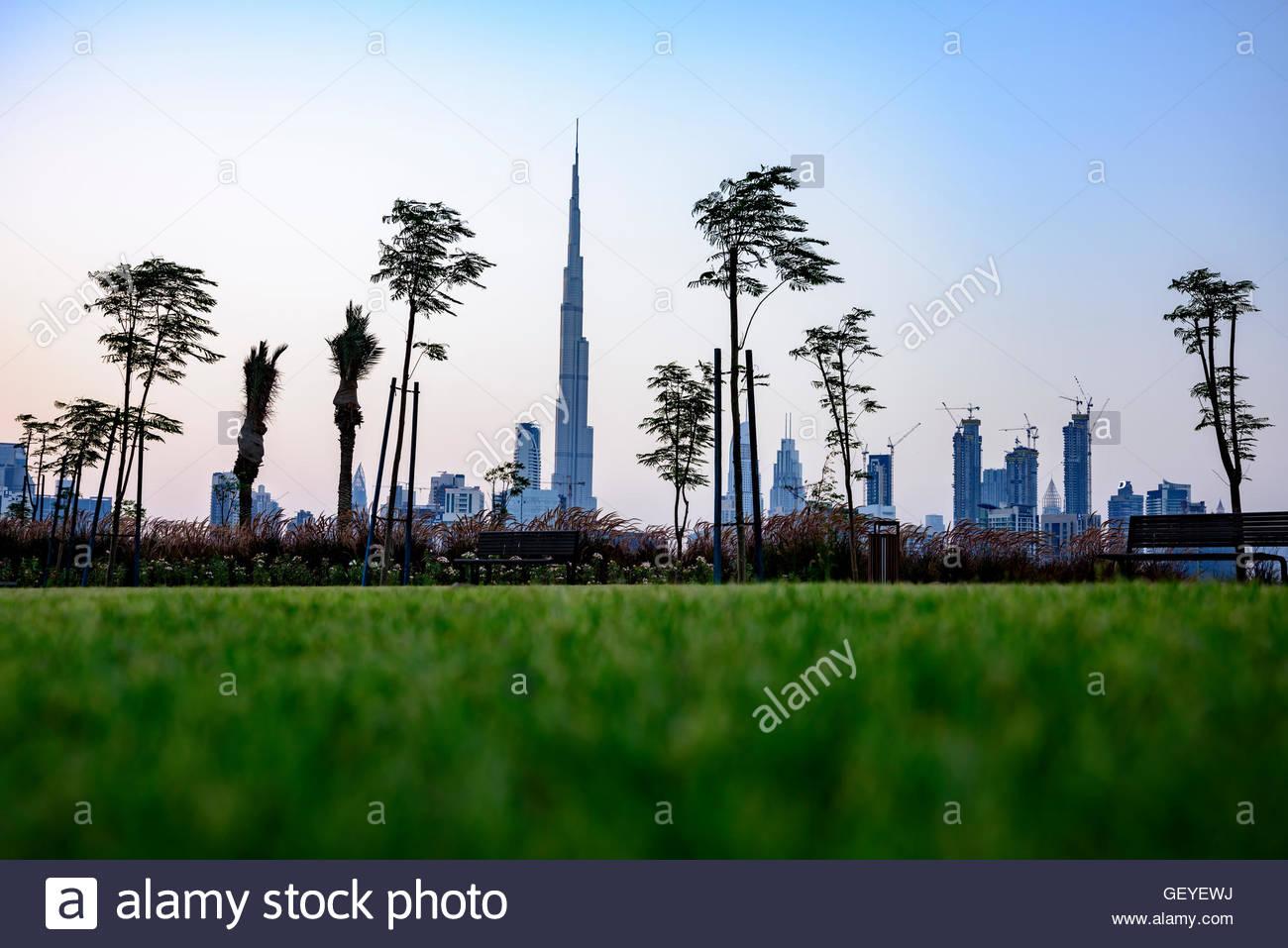 The New Cycle Track and Resting area, Dubai Nad Al Sheba, United Arab Emirates - Stock Image
