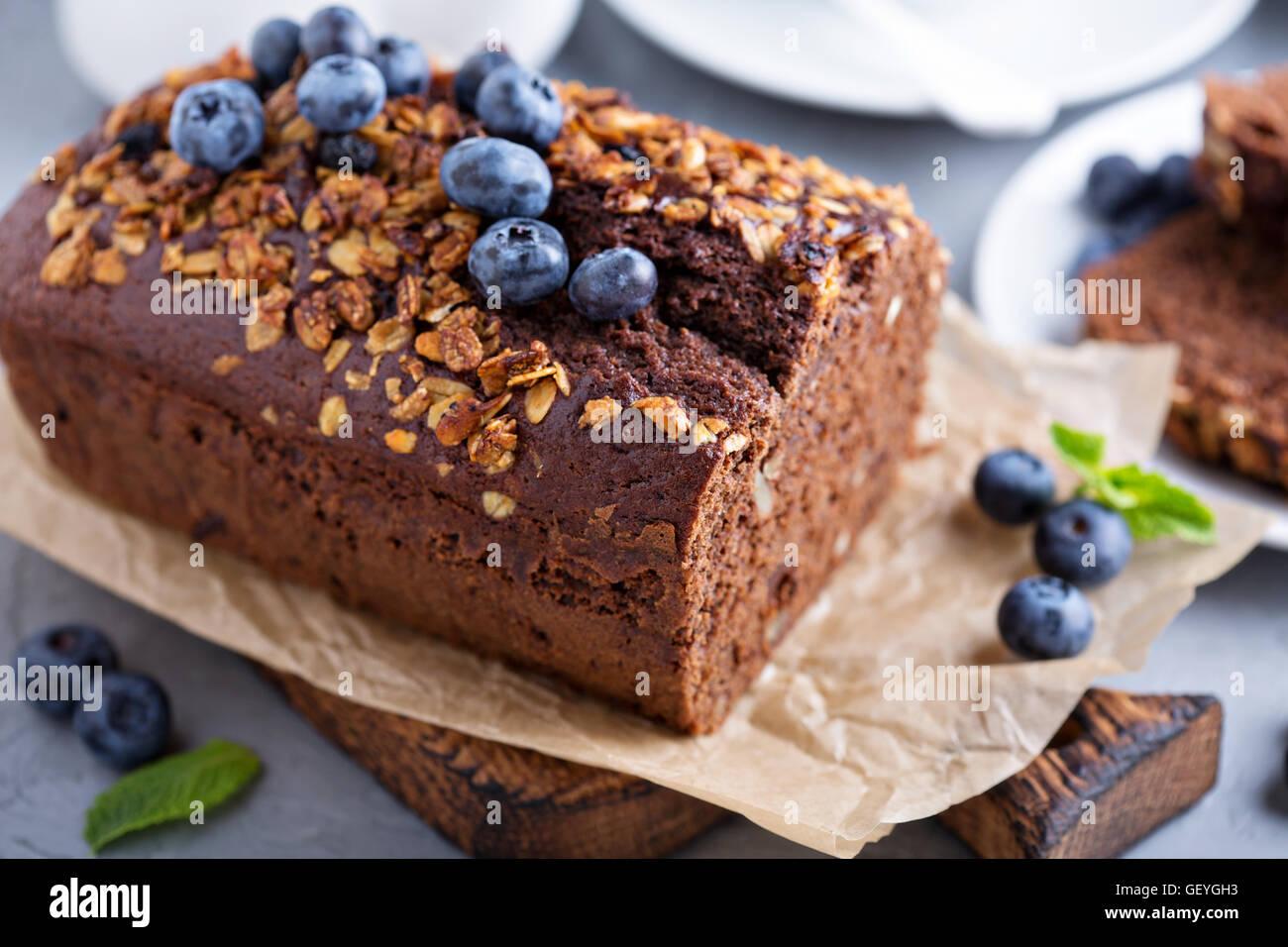 Chocolate whole wheat quick bread - Stock Image