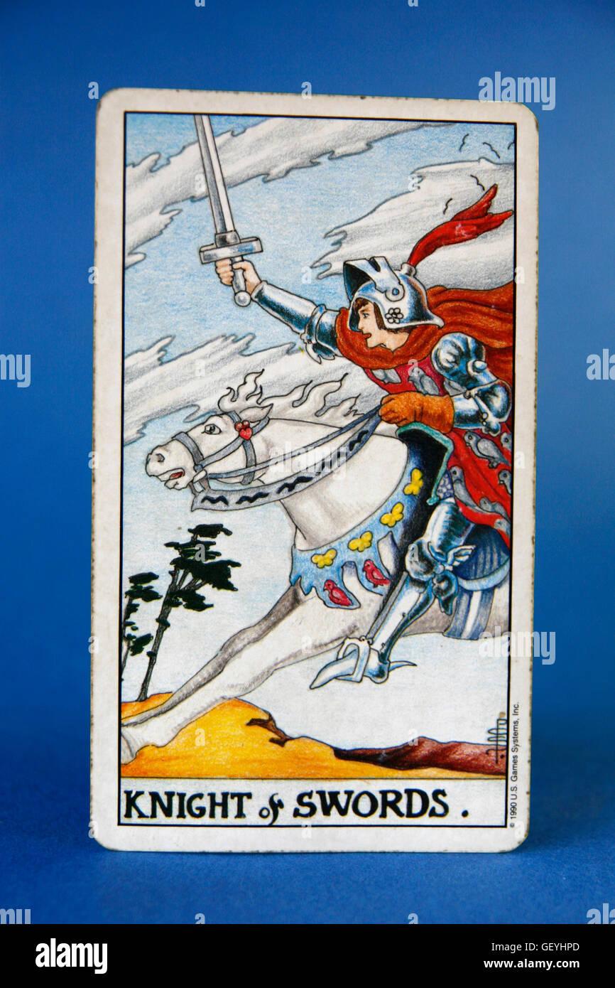 Tarot Cards, Knight of Swords Stock Photo: 112474053 - Alamy
