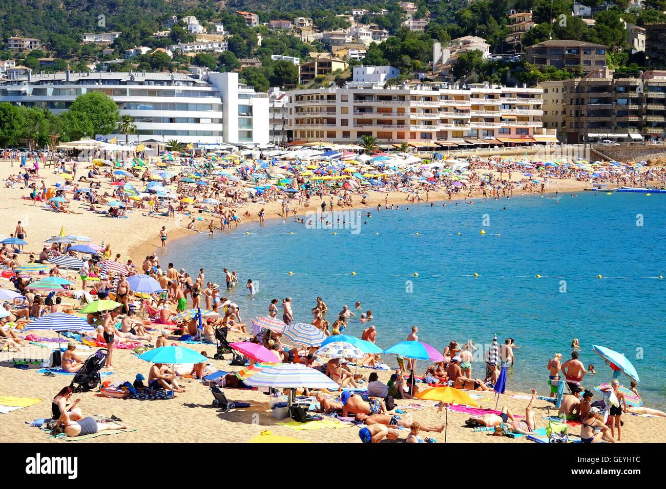 Tossa de Mar, Costa Brava, Spain - Stock Image
