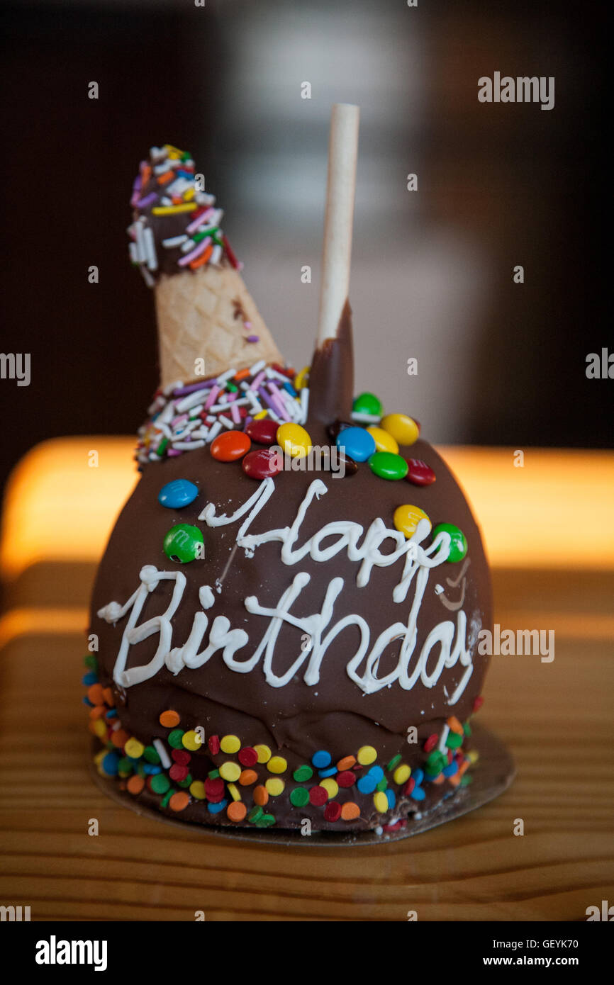 Happy Birthday Candy Apple Stock Photo 112475188 Alamy
