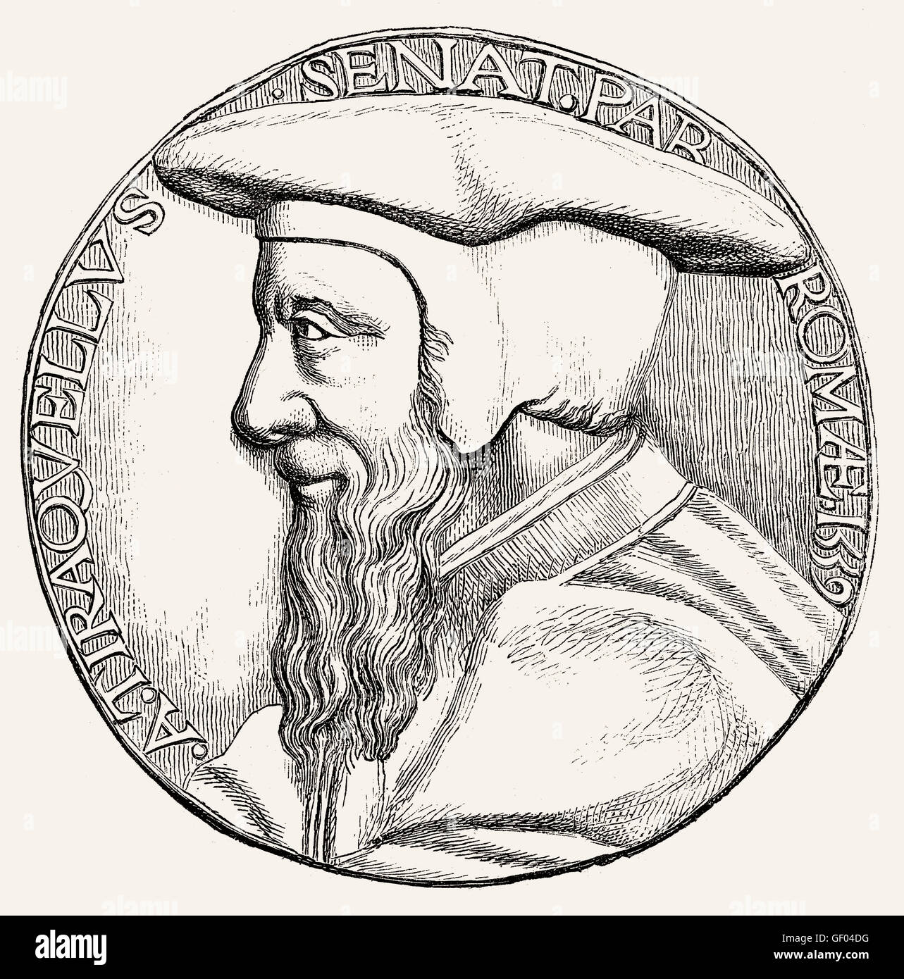 André Tiraqueau or Andreas Tiraquellus, 1488-1558, a French jurist and politician - Stock Image