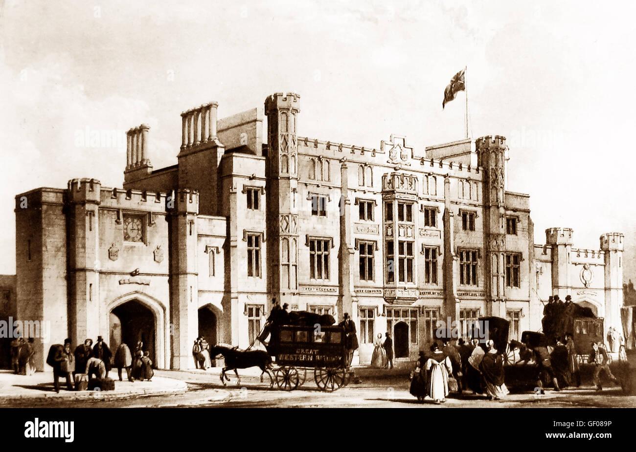 Temple Meads Railway Station, Bristol - Victorian period Stock Photo