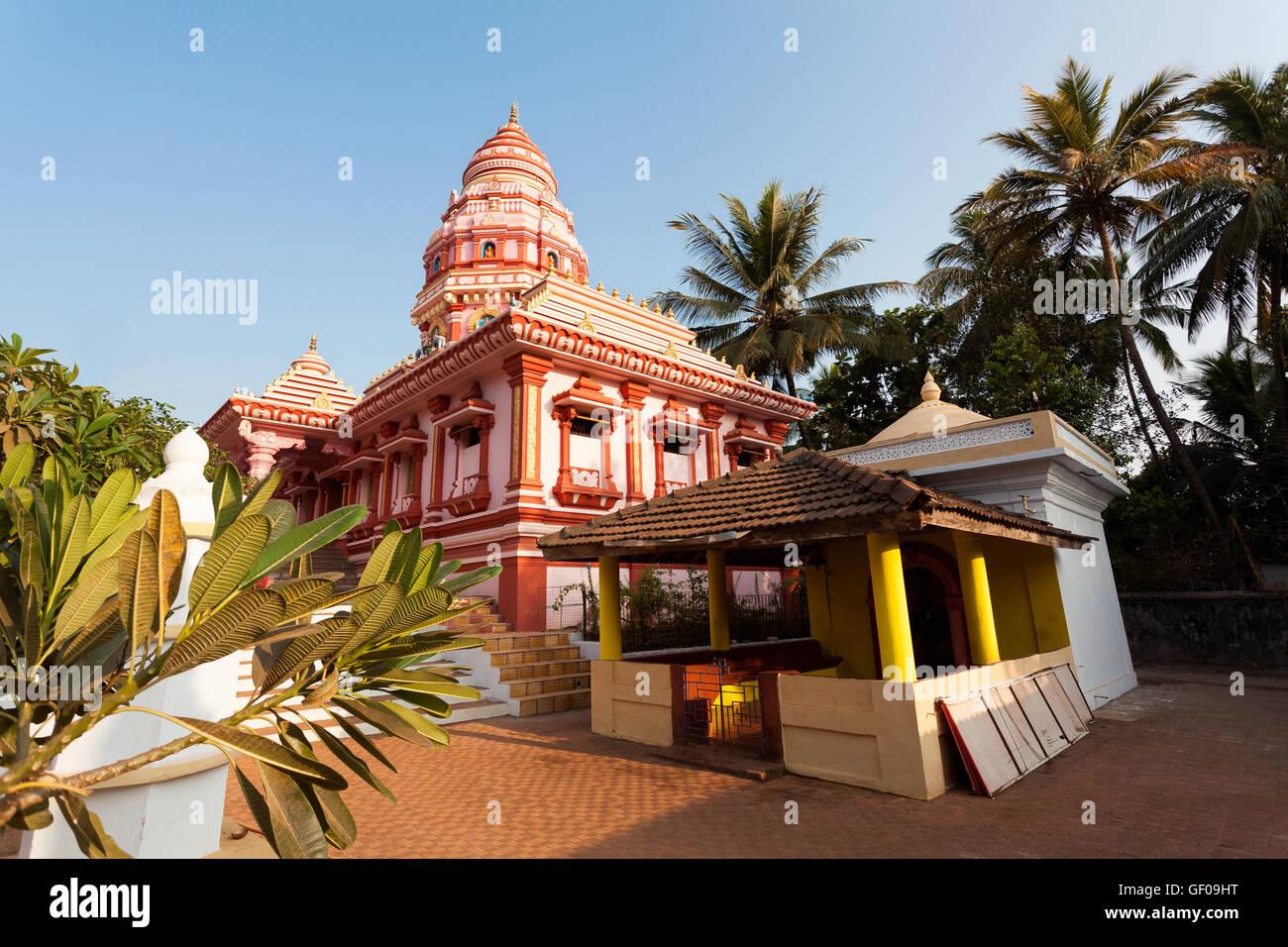 hindu temple india goa - Stock Image