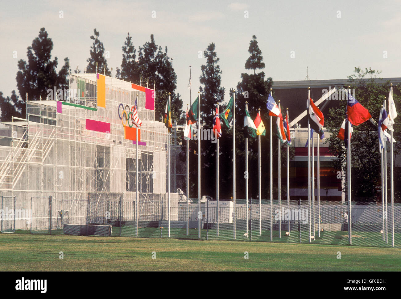 Grounds at UCLA Olympic (athletes') Village at 1984 Olympic Games in Los Angeles. - Stock Image