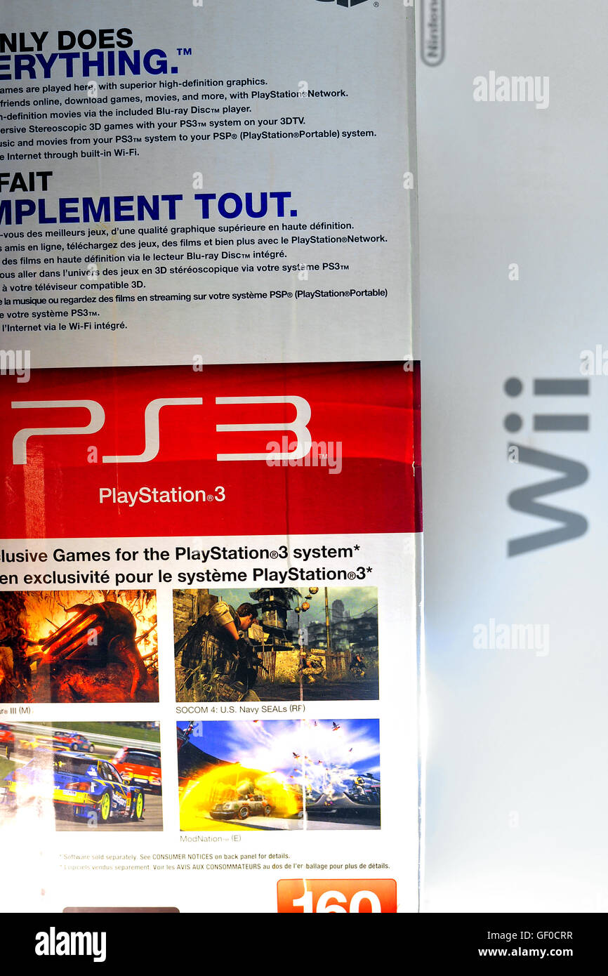 A Ps3 Playstation 3 Video Games Console Box Stock Photo Alamy