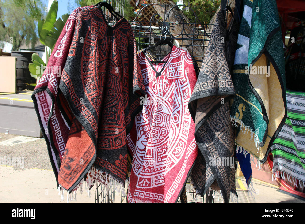 Mexican ponchos - Stock Image