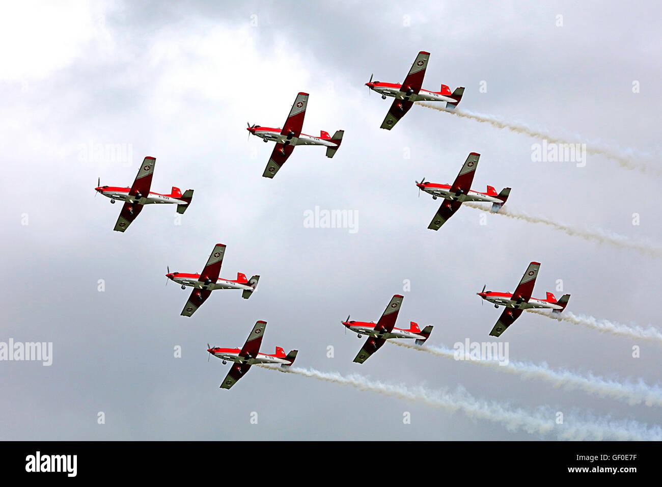 Swiss PC-7 Aerobatic team - Stock Image