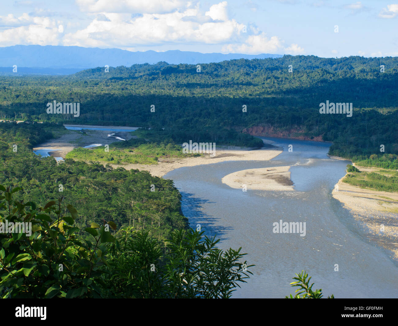 The view of Manu National Park, amazonian forest. - Stock Image