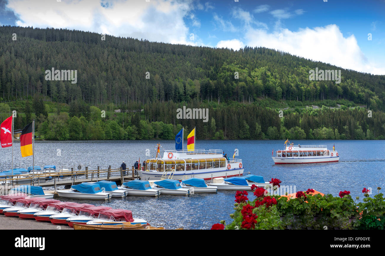 Lake Titisee Titisee Neustadt Black Forest Baden Wurttemberg Stock Photo Alamy