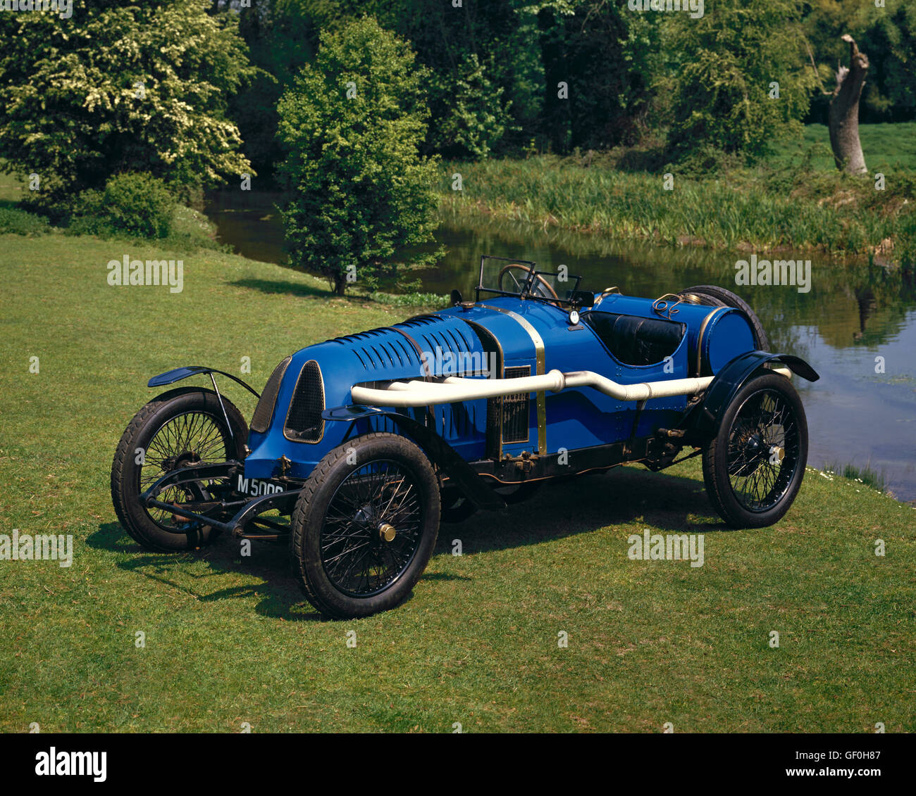 1913 Theophile Schneider 5 5 litre Grand Prix 2 seater racing car Country of origin France - Stock Image