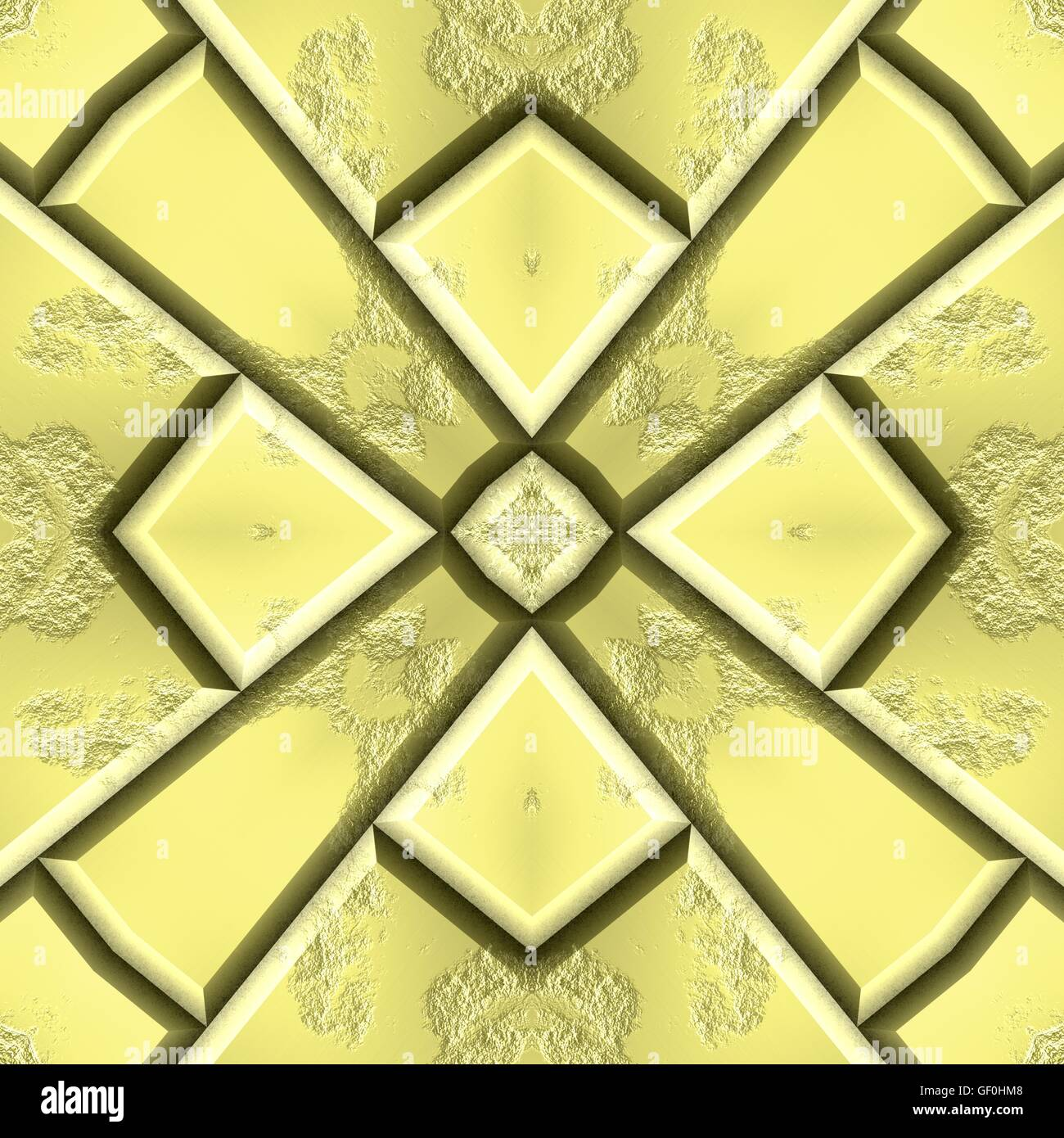 Gold decorative ornaments. 3d rendered golden wall background ...