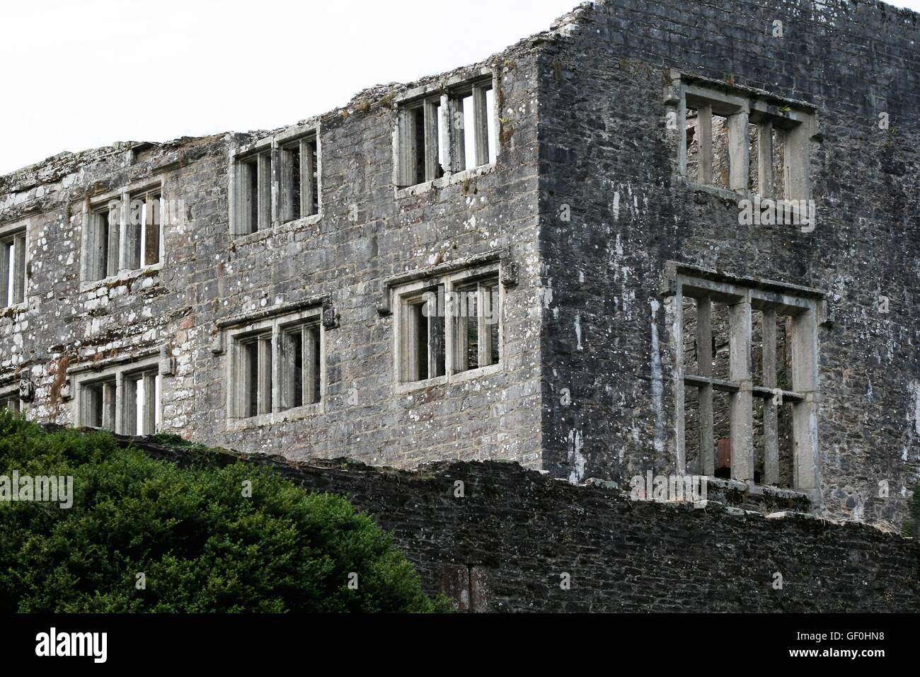 Berry Pomeroy castle - Stock Image