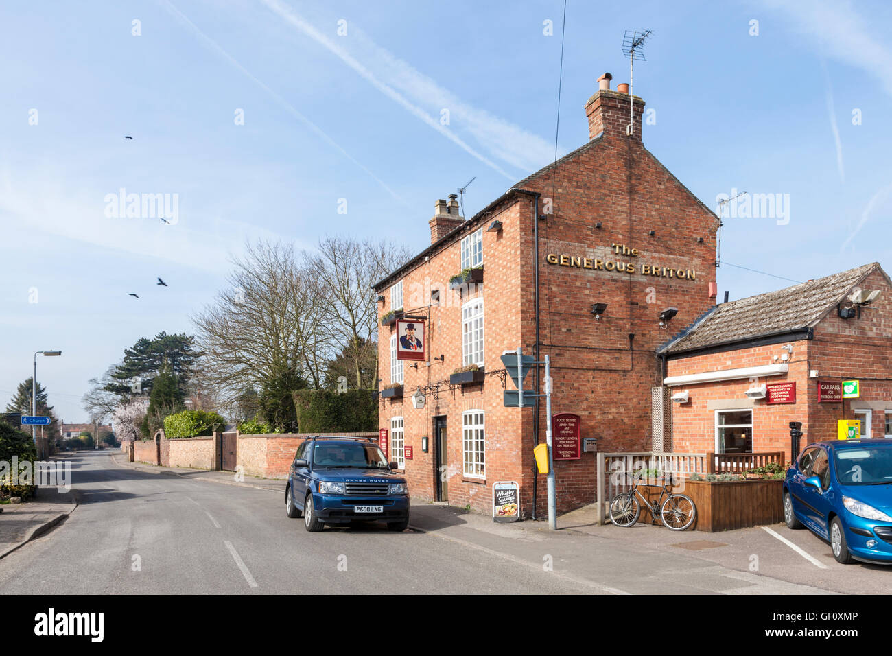The Generous Briton pub on Main Street in the village of Costock, Nottinghamshire, England, UK - Stock Image