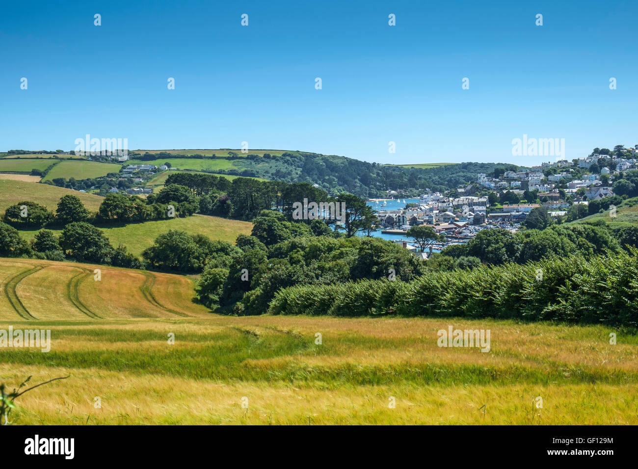 Salcombe from Snapes Point. Salcombe, South Hams, Devon. UK - Stock Image