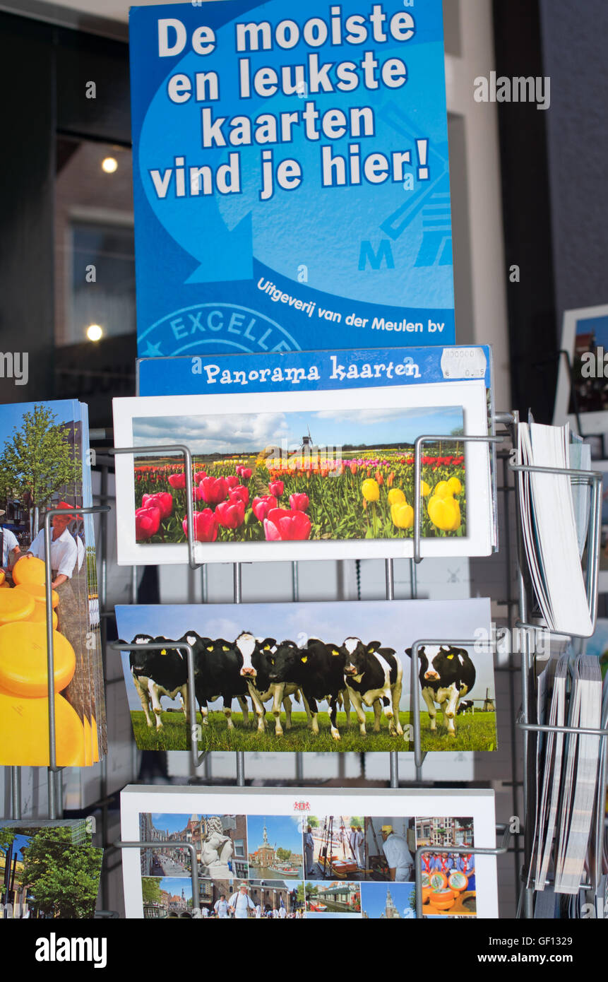 Postcards from Holland for sale - Stock Image